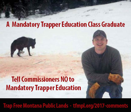 Josh Bransford, with his smiling grimace in front of the trapped bloodied wolf, took a mandated Trapper Education Class and was taught ethics, too.