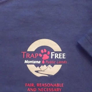 Trap Free Montana Public Lands T- Shirt, front with logo on the left